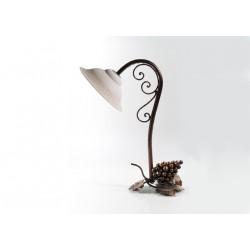 Lampada con coppa in ceramica